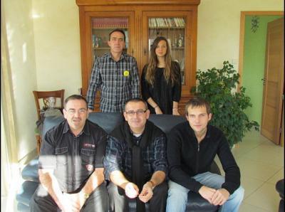 Jean François, Marion, Claude, Didier et Quentin