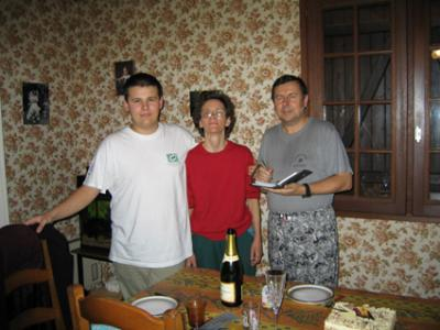 Raphaël, Marie Josée et Patrick